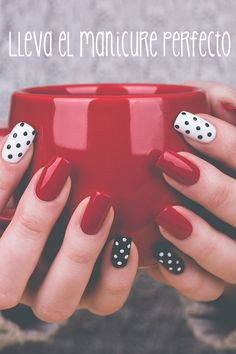Nail art is a very popular trend these days and every woman you meet seems to have beautiful nails. It used to be that women would just go get a manicure or pedicure to get their nails trimmed and shaped with just a few coats of plain nail polish. Dot Nail Designs, Elegant Nail Designs, Acrylic Nail Designs, Nails Design, Art Designs, Acrylic Nails, Dots Design, Design Ideas, Red Design