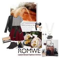 """Romwe skirt"" by akflow ❤ liked on Polyvore featuring moda, Bobbi Brown Cosmetics, Aubin & Wills, River Island, Stella & Dot, London Road, H&M, Topshop y Michael Kors"