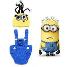 >> Click to Buy << Despicable Me Style Baby Hat Matched Suspender Diaper Set Boy Photo Photography Props Crochet Toddler Costume 1set H065 #Affiliate