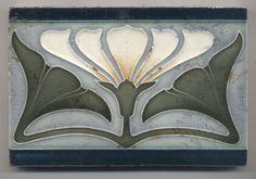 Super rare Offstein Blüte Jugendstil Fliese art nouveau tile in Antiquitäten & Kunst, Porzellan & Keramik, Keramik | eBay