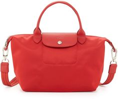 Longchamp Le Pliage Neo Shoulder Tote with Strap, Poppy on shopstyle.com