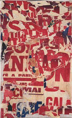 Jacques Villeglé, Place des Fêtes, 3 July 1972 Decollagé on canvas 24.75 x 15…