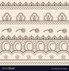 Illustration about The indian henna ornament seamless. Illustration of edge, culture, henna - 22495368 Indian Henna, Indian Art, Publicaciones Dover, Henna Tattoo Designs, Mehndi Designs, Henna Indiana, Free Vector Images, Vector Art, Vector Pattern