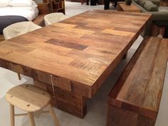Dining Table made from reclaimed peroba rosa wood (from brazil).    From environment furniture $3495
