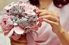 Bouquet - TUTORIAL - flores de feltro