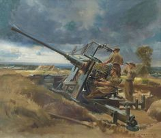 Anti-Aircraft Gunners, No.219 Squadron, RAF Regiment, Normandy