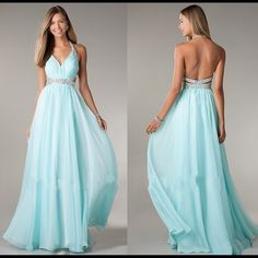 Find More Prom Dresses Information about 2014 New Fashion Halter V Neck A Line Light Sky Blue Chiffon Long Prom Dresses Sexy Backless Evening Gown For Special Occasion,High Quality dress of your dreams,China dresses sexy Suppliers, Cheap dresses less from Backless Evening Gowns, Strapless Prom Dresses, Prom Dresses 2016, Cute Prom Dresses, Grad Dresses, Evening Dresses, Bridesmaid Dresses, Party Dresses, Prom Gowns