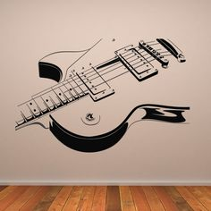 Electric-Guitar-Wall-Art-Decals-Wall-Stickers-Transfers                                                                                                                                                                                 More