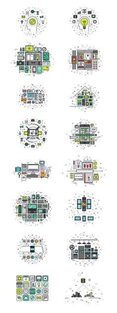 Thinline Illustrations Collection by Bloomua on Creative Market