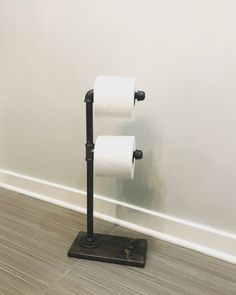 Toilet Paper Stand With Extra Storage, Paper Dispenser, Rustic Paper  Holder, Pipe Toilet Paper Holder, Industrial Paper Stand, Wood Stand   Work    Pinterest ...
