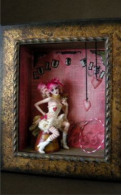 Bohemian Circus 3 by wingdthing on DeviantArt - Assemblage Art Polymer Clay Sculptures, Polymer Clay Dolls, Ooak Dolls, Art Dolls, Pierrot Clown, Instalation Art, Circus Art, Assemblage Art, Doll Repaint
