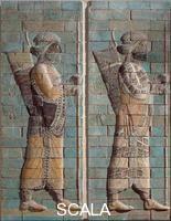 Arte Persiana V sec a.C. (Achemenidi) fregio degli arcieri in mattoni smaltati