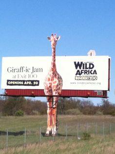 binder park zoo billbord