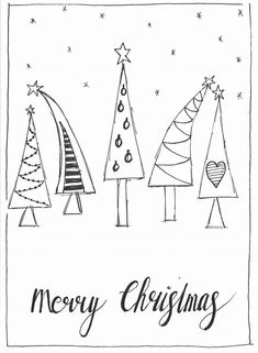 Christmas Doodles, Christmas Cards To Make, Christmas Art, Holiday Cards, Christmas Holidays, Watercolor Christmas Cards, Christmas Drawing, Watercolor Cards, Happy Paintings