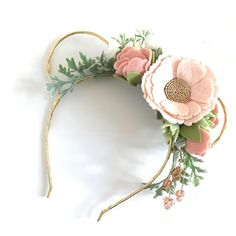Flower Minnie Ears Headband. Mickey Floral Ears Crown. Floral