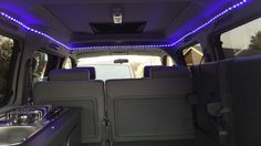 """Colour changeable remote control """"my colour"""" LED mood lighting fitted to our Mazda Bongo."""