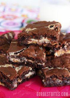 Ooey-Gooey Peanut Butter-Chocolate Brownies - Our Best Bites
