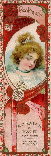 Pretty Red Bookmark-Kranich & Bach, New York City, Artistic Pianos