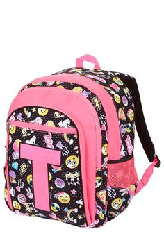 2c38240a22dc Justice is your one-stop-shop for on-trend styles in tween girls clothing    accessories. Shop our Initial Emoji Backpack.