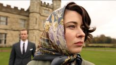 Lovely cover picture from the Channel 5 documentary series.  I don't know who she is supposed to be playing but its probably a young HM Queen.  An excellent photo showing why every girl should have at least 3 headscarves in her drawer!