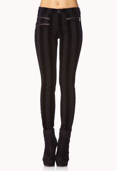 Dark Striped jeans in black and grey by lip service #style