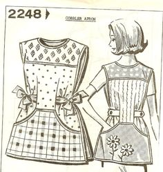 Cobbler apron - perhaps have a slit in the back so that my head can fit, and have a button closure?