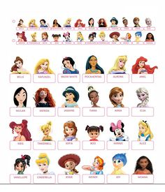 Guess who printable Disney Princess