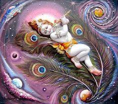 Aum 108 ⚡ Krishna Art ⚡ Vishnu ॐ : Photo Baby Krishna, Radha Krishna Songs, Krishna Leela, Cute Krishna, Lord Krishna Images, Radha Krishna Pictures, Radha Krishna Love, Shree Krishna, Radhe Krishna