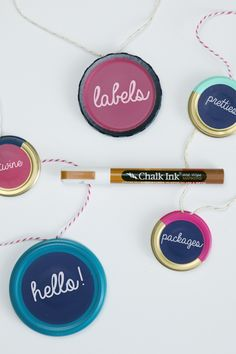 IHeart Organizing: DIY Jar Lid Labels