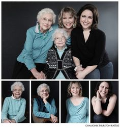 Four generations, family photo shoot. An appealing, story telling, portrait. A treasure!