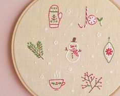 Hand Embroidery Patterns PDF by NaiveNeedle on Etsy Hand Embroidery Projects, Christmas Embroidery Patterns, Embroidery Patterns Free, Hand Embroidery Stitches, Hand Embroidery Designs, Felt Embroidery, Embroidery Sampler, Simple Embroidery, Modern Embroidery