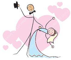 Wedding clip art from creativeoutlet.com
