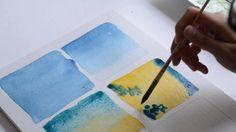 Apprendre l'aquarelle: techniques simples (couleurs)
