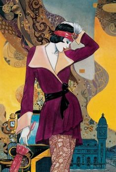 The illustrations of Helena Lam are inspired by the Art Deco period Art Deco Illustration, Illustrations, Art Deco Stil, Art Deco Era, Art Nouveau, Art Vintage, Vintage Posters, Moda Art Deco, Inspiration Art