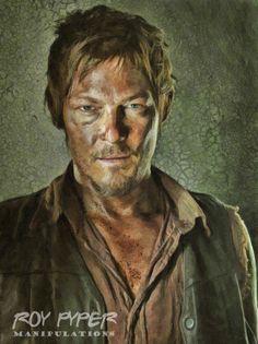 The Walking Dead: Daryl: Oil Paint Re-Edit by nerdboy69.deviantart.com on @deviantART