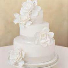 flower 3 tear cake white