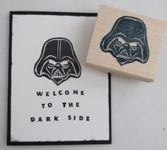 Darth Vader carved by Kristine Burns / Stampin' Up! Undefined stamp carving set