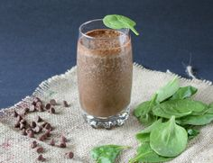 Chocolate Banana Green Smoothie 1 Banana (Frozen for thicker smoothie) 2 tbs Cocoa Powder Big handful of spinach (Lots is fine, you can't ta...