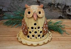 Ceramic Birds, Ceramic Pottery, Owl, Pottery Animals, Garden Totems, Air Dry Clay, Art Projects, Polymer Clay, Candle Holders