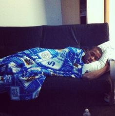 MKG sleeping in the new Wildcat Lodge. What about #TeamNoSleep???