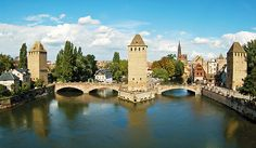 Strasbourg, along the Rhine River