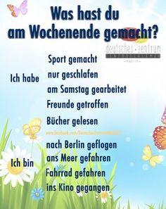 Was hast du am Wochenende gemacht? Deutsch Wortschatz Grammatik German DAF Alemán