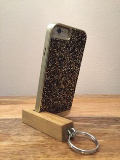 Keychain Phone Stand, Iphone Stand, Wooden Phone Stand, Custom Key Chain