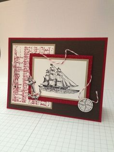 The Open Sea Masculine Cards by Lmaco - Cards and Paper Crafts at Splitcoaststampers