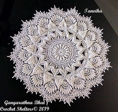 Tanviha A textured crochet doily pattern Lace Doilies, Crochet Doilies, Crochet Rugs, Thread Crochet, Crochet Hooks, Rose Texture, Crochet Designs, Crochet Patterns, Motif Mandala Crochet