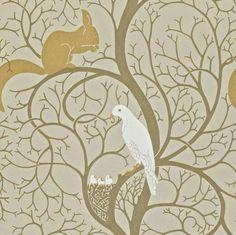 Squirrel & Dove Linen/Ivory DVIWSQ101 - Seinäruusu - Verkkokauppa