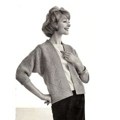 Easy Crochet Diamond Cardigan Pattern with marvelous three quarter length dolman sleeves.