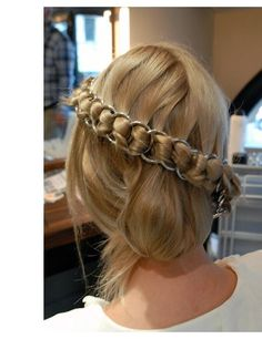 Not quite a braid but a plait none the less! Adam Reed shows how to create a chainmail plait inspired by a Chanel 2.55 bag strap! http://www.elleuk.com/beauty/hair/hair-features/how-to-chainmail-braid/(img)/18#gallery
