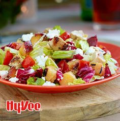 Talk about a beautiful salad. Grilled Chicken and Nectarine Chopped Salad is full of color, crunch and nutrition. Swap out the fruits and vegetables as the seasons change.