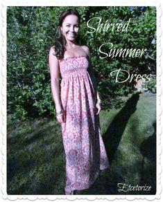 Easy to make shirred dress! http://etcetorize.blogspot.com